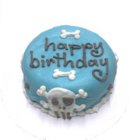 Blue Skull Personalized Organic Dog Cake