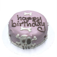 Pink Skull Personalized Organic Dog Cakes