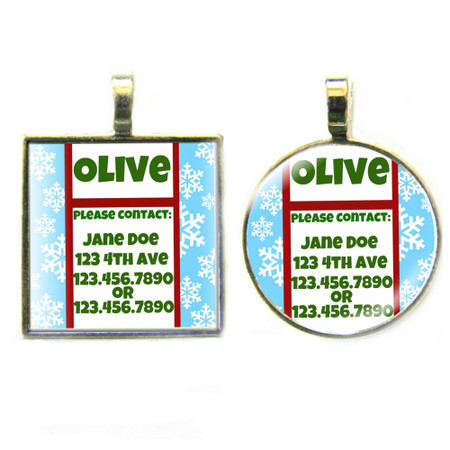 Snowflake Sterling Silver Pet ID Tags