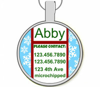 Holiday Snowflake Silver Pet ID Tags