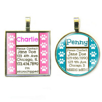 Paws Silver Pet ID Tags
