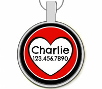 Queen of Hearts Silver Pet ID Tags
