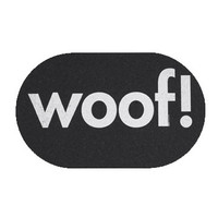 Jumbo Recycled Rubber Woof! Placemat