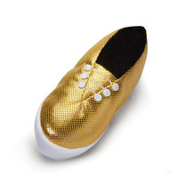 M. Isaac Mizrahi Paint Splatter Gold Shoe Toy