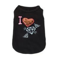 Dogs of Glamour I Heart Diamonds Tank
