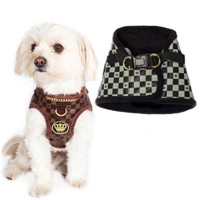 Dogs of Glamour Check & Chain Harness