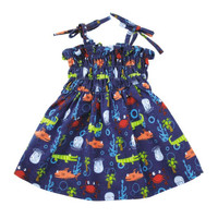 Under the Sea Ruched Dress