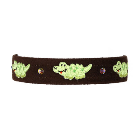 Susan Lanci Alligator Collar (Wide Ed.)