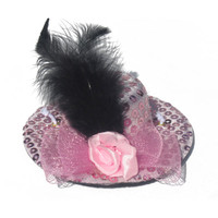 Pink Sequin Dog Hat