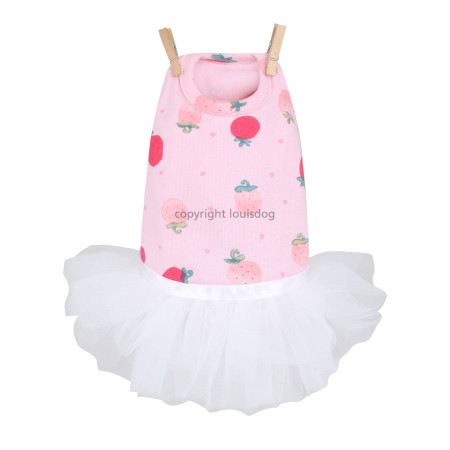 Louisdog Strawberry Tutu Dress