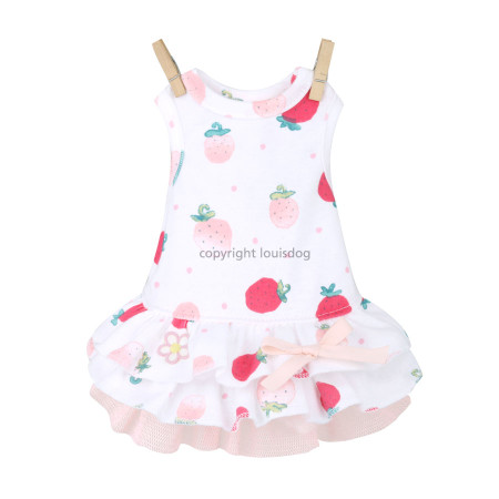 Louisdog Strawberry Dress
