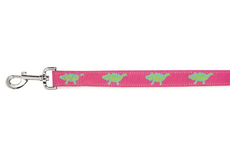Pink Crocodile Dog Lead