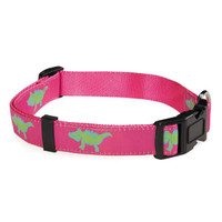 Pink Crocodile Dog Collar