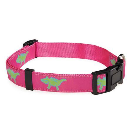Pink Crocodile Dog Collar