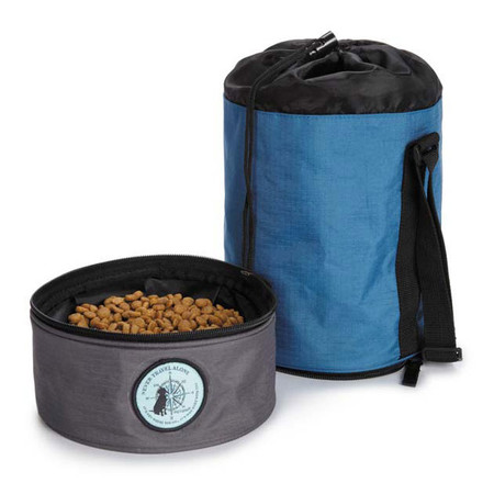 Dog Is Good Never Travel Alone Travel Bowl Kit