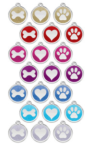 Stainless Steel Glitter Enamel ID Tags