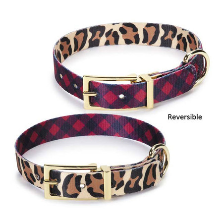 M. Isaac Mizrahi Luxe/Modern Reversible Dog Collar