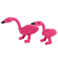 Fran Flamingo Rope Dog Toy