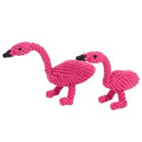 Fran Flamingo Rope Dog Toy