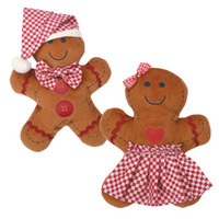 Gingham Gingerbread Dog Toys