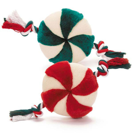 Peppermint Pinwheels Dog Toys