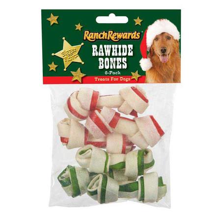 Holiday Rawhide Bones