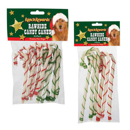Holiday Rawhide Candy Canes