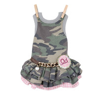 Louisdog Twirly Camo Dog Dress