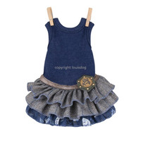 Louisdog Twirly Blue Dress