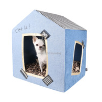 Louisdog Peekaboo Bleu Dog House