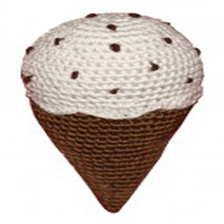 Organic Cotton Crochet Ice Cream Dog Toy