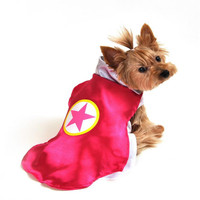 Pink Superhero Dog Costume