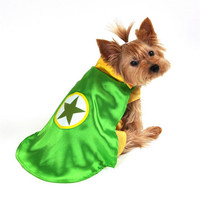Green Superhero Dog Costume
