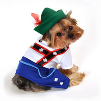 Bavarian Lederhosen Dog Costume