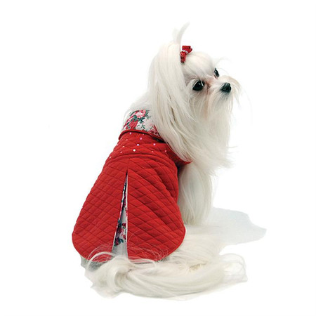 Oscar Newman Red Carpet Ready Quilted  Dog Coat