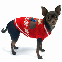 Oscar Newman Moose Lodge Dog Sweater Vest
