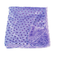 Oscar Newman Paw Prints On My Heart Pet Blankie