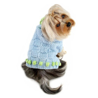 Square Knit Turtleneck Dog Sweater