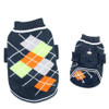 Navy Argyle Pattern Turtleneck Dog Sweater