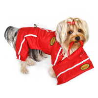 Reflective Dog Raincoat Bodysuit with Matching Pouch