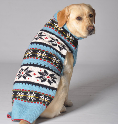 Blue Flurries Sweater