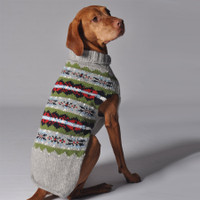 Grey Fairisle Dog Sweater