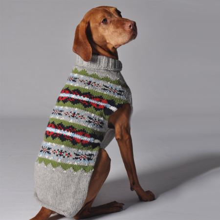 Grey Fairisle Dog Sweater