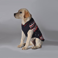 Navy Alpine Dog Sweater
