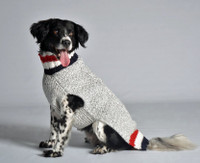 Patriot Cable Dog Sweater