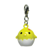 Yellow Chicklet Metal Jingle Bell Charm