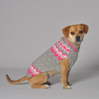 Pink Alpine Dog Sweater