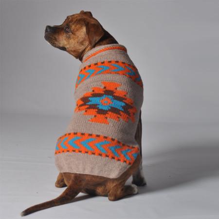 Tan Aztec Dog Sweater