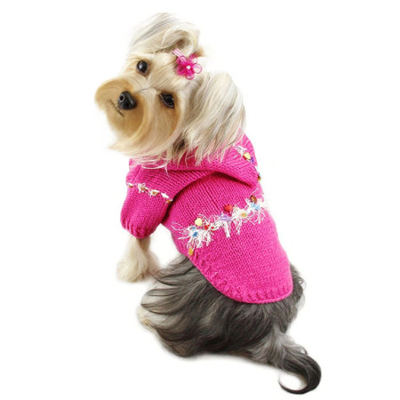 Pink Sparkling Trim Hoodie