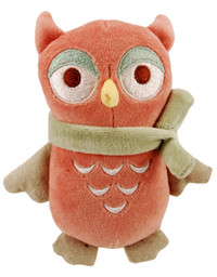 Squeaky Flat Owl Organic Dog Toy